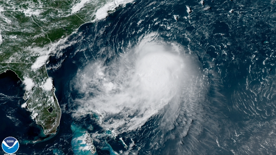 Visible satellite imagery of Tropical Storm Henri from August 20, 2021